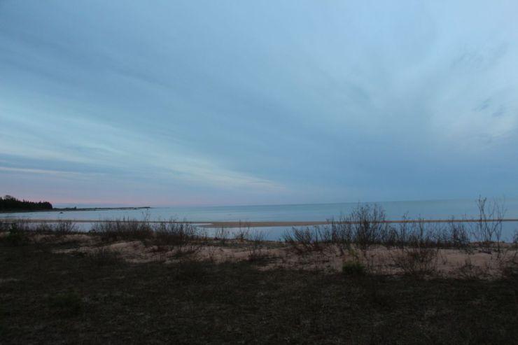 Lake Michigan northern rim