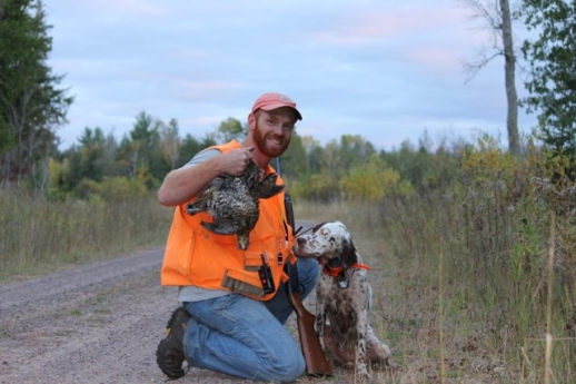 widget and Kyle with grouse